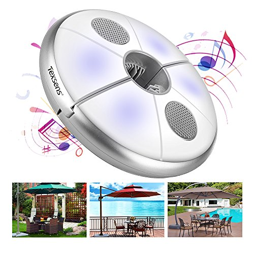 Texsens LED Patio Umbrella Light Wireless Speaker USB Rechargeable Power Bank Camping Tents Lights by Texsens