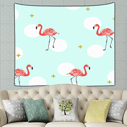 DWone Hat Tropical Exotic Flamingo Animals Tapestry Wall Hanging Tapestries Mysterious Wall Tapestry for Home Decor 50x60Inches