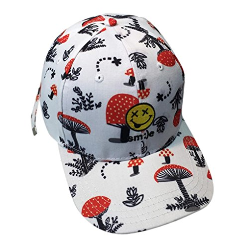 Womail Women Graffiti Hip Hop Baseball Cap Adjustable Hat For Boy (White)
