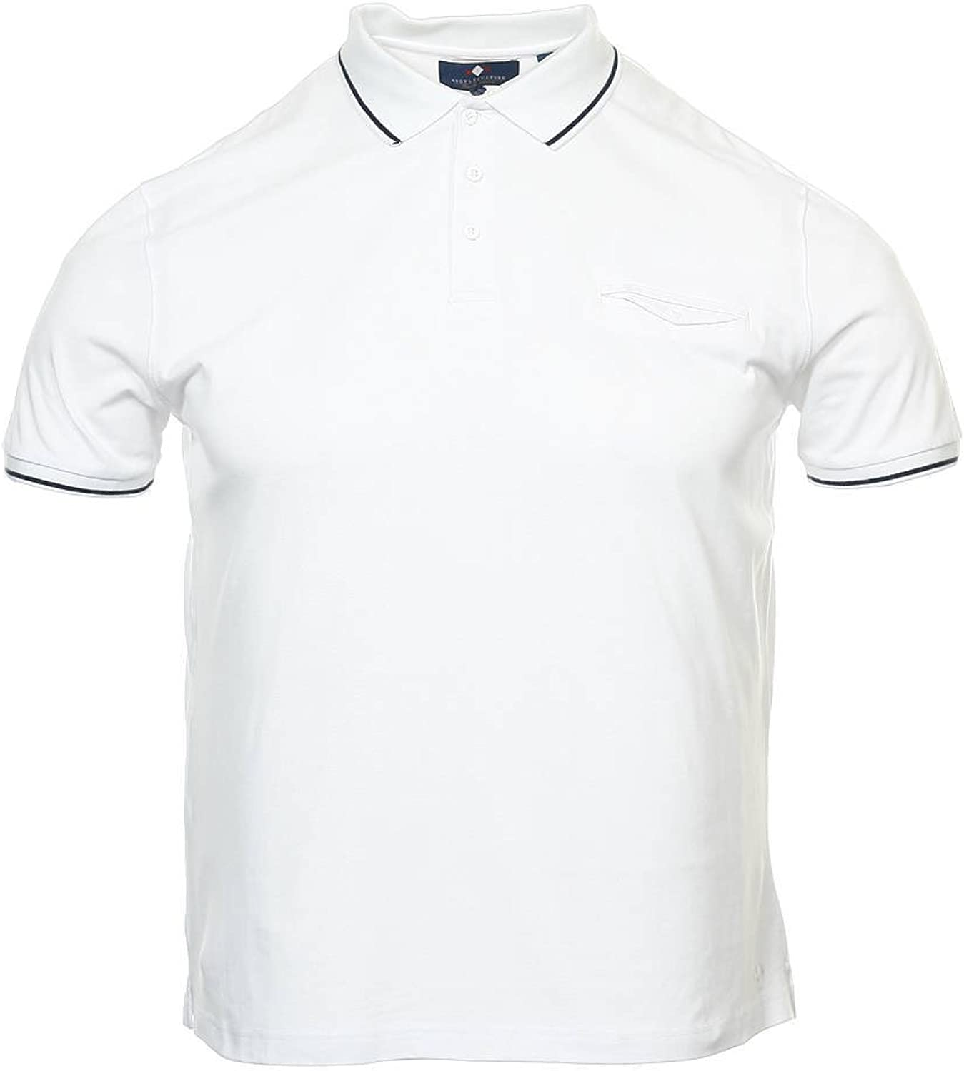 Russell Classic Cotton Pique Polo Shirt Mens Easy Fit Classic Style Tshirt Top