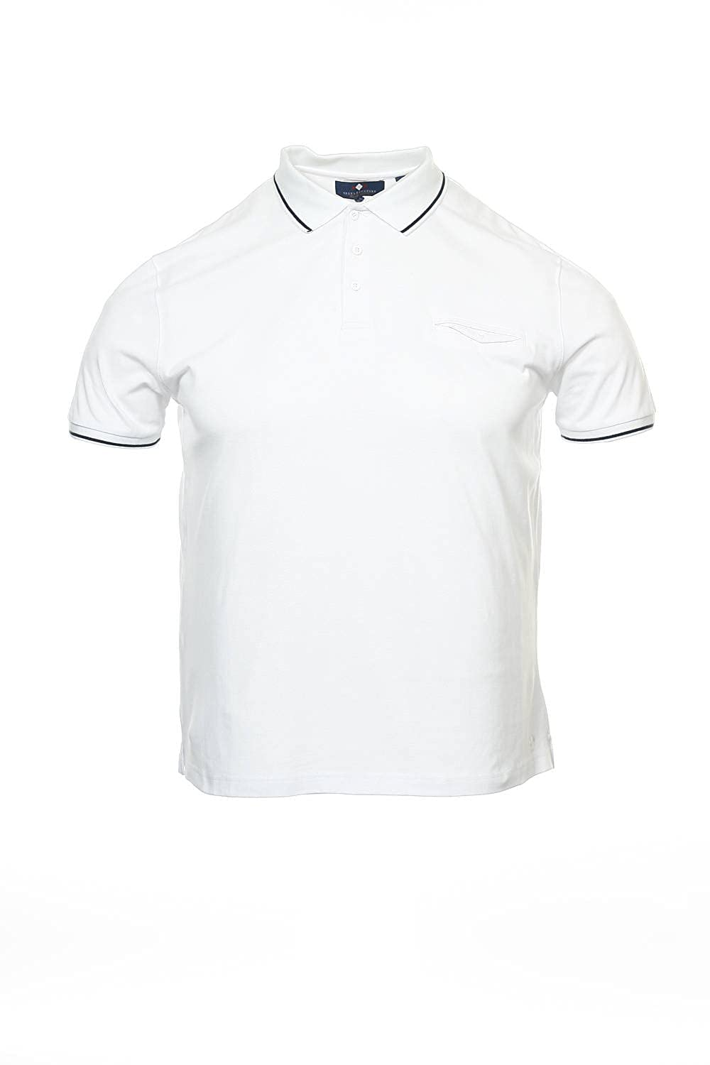 5014c05740 Argyleculture by Russell Simmons White Herringbone Polo Shirt Golf ...