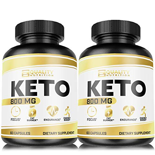 (2 Pack) Keto Diet Pills - Support Ketosis - Lose Unwanted Pounds - Weight Management Supplements for Men & Women - Appetite Suppressant - Ketogenic BHB Formula - Keto Burn 800 mg (The Best Pills To Lose Weight Fast)