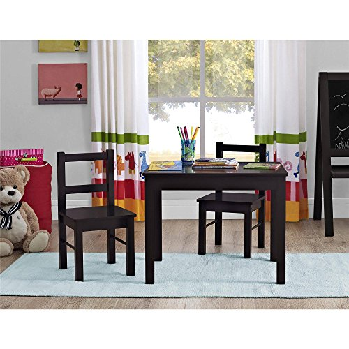 Altra Furniture Hazel Kids Table and Chairs 3-Piece Set (Espresso)