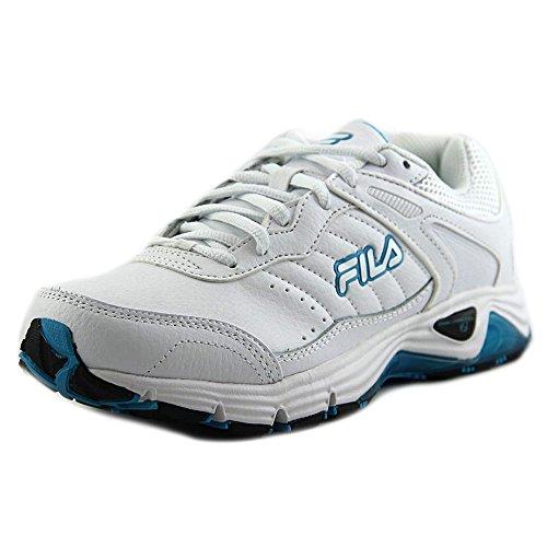 Fila 5SR21090 Women Round Toe Leather White Sneakers
