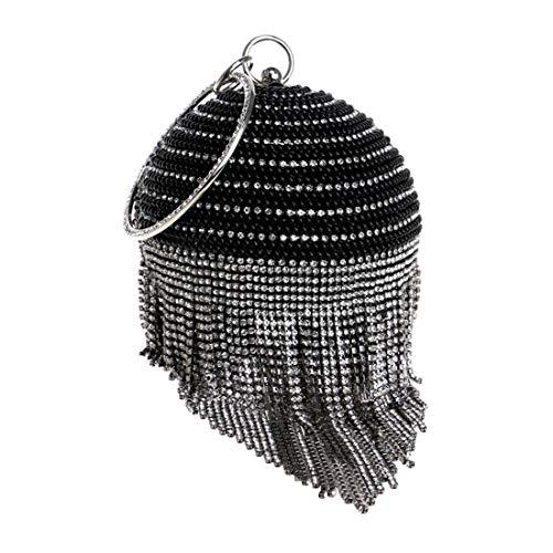 Black color Élégant Silver De Délicat Mallty Brillant Et Soirée Sphérique Sac nCHxw8qv6