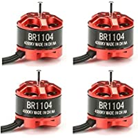 New 4X Racerstar Racing Edition 1104 BR1104 4000KV 1-2S Brushless Motor For 100 120 150 Frame Kit By KTOY