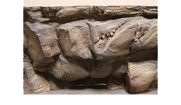 """3-D Aquarium Background Crevice 72/""""x24/"""""""
