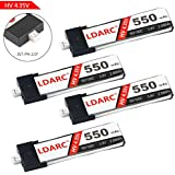 4pcs LDARC 550mAh 1S HV 3.8V LiPo Battery 50C JST-PH 2.0 PowerWhoop mCPX Connector for Inductrix FPV Plus Micro FPV Racing Drone etc