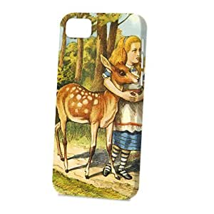 TYHde Case Fun Apple iPhone 4/4s Case - Vogue Version - 3D Full Wrap - 3D Full Wrap - Alice in Wonderland The Fern ending