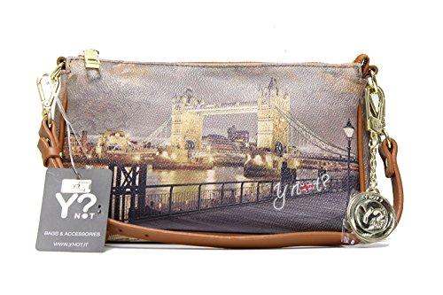 Borsa Tracolla S Dark Tan Gold YLON Golden Bridge I 312 GBD Multicolor