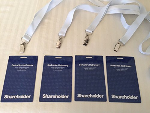 2018 Berkshire Hathaway Shareholder Ticket with Rare Lanyard and Exclusive Instant Collectible! by 2018 Berkshire...
