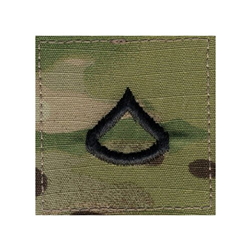 - Authentic Military Rank Insignia US Made (Private 1st Class - MultiCam)