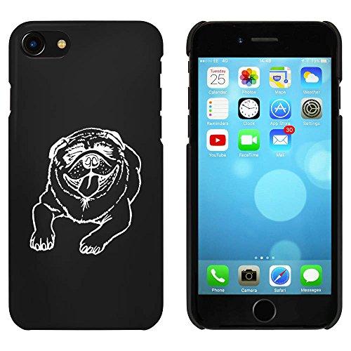 Schwarz 'Lächelnder Hund' Hülle für iPhone 7 (MC00081907)