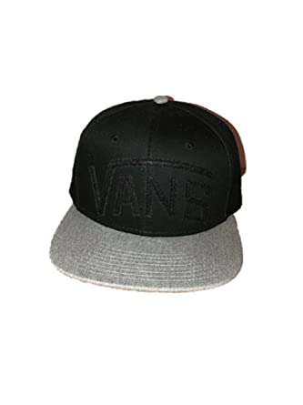 00cbbbfc60 Vans New Black Grey Baseball Cap Unisex Men s Women s One Size Fits All  Adjustable Size 1060  Amazon.co.uk  Clothing