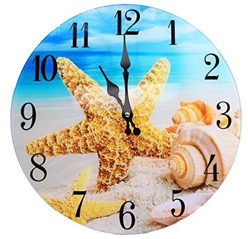 Shell Glass Wall Clock New 13