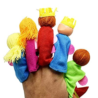 Finger Doll, 6Pcs/Set King and Children Finger Puppets Hand Puppets Christmas Gifts, King and Kid Puppet Toys: Arts, Crafts & Sewing