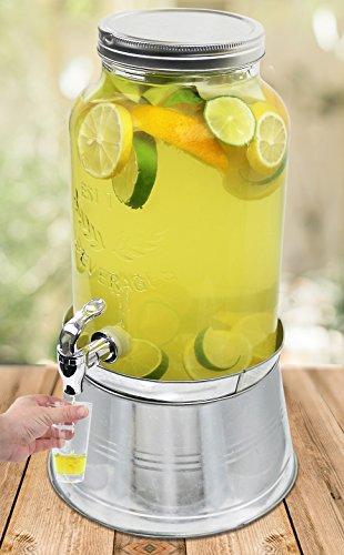 Estilo 1 5 Gallon Glass Mason Jar Beverage Drink Dispenser
