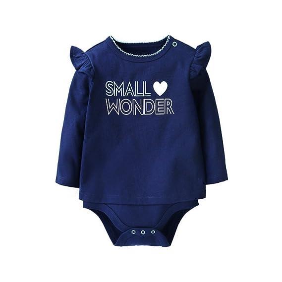 ARAUS Bebe Pijamas Mono Ropa Ninas Proteger Vientre Envuelto Culo Ropa (azul, 59-