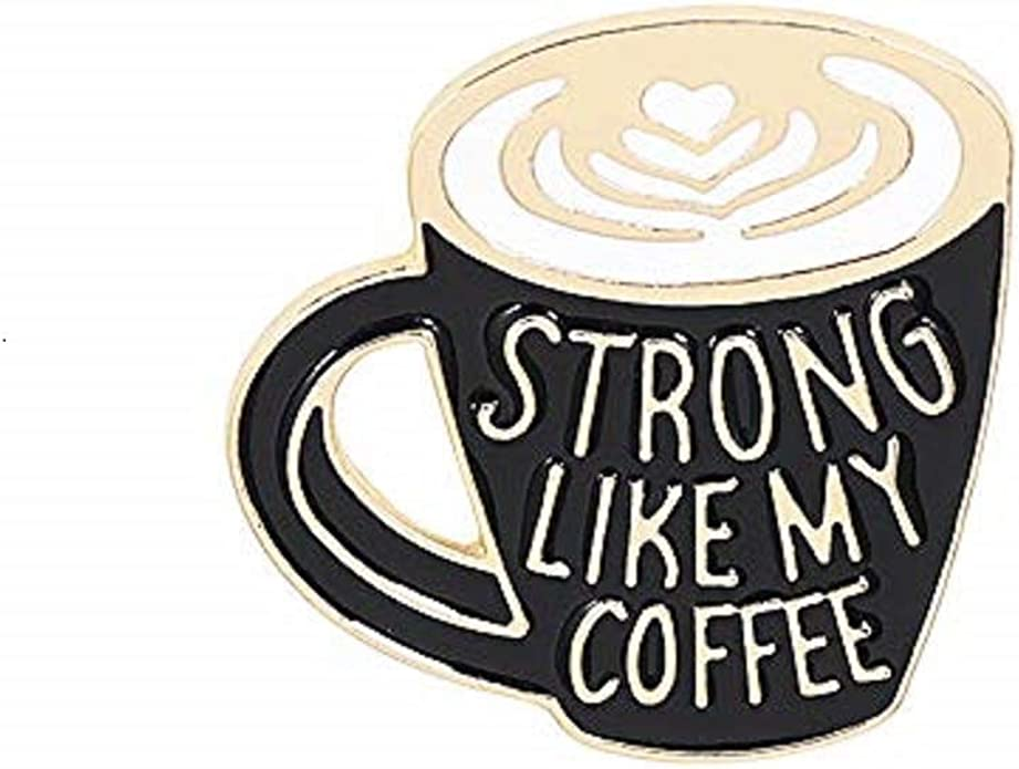 Coffee enamel pin   coffee cup pin caffeine addict coffee cup coffee pin morning joe coffee lover gift pingame pingamestrong