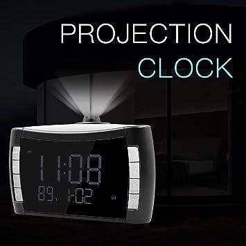 KWELJW Réveil Numérique Réveil Lumineux Horloge De