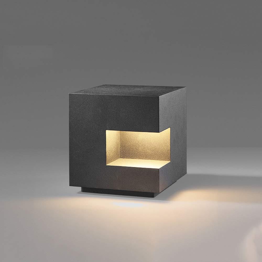 Mogicry IP54 Impermeabile Energia Solare Esterna Impermeabile Illuminazione Semplice Giardino in Alluminio Prato Villa Colonna pilastro Luce Antipioggia Risparmio energetico Lampada Stradale
