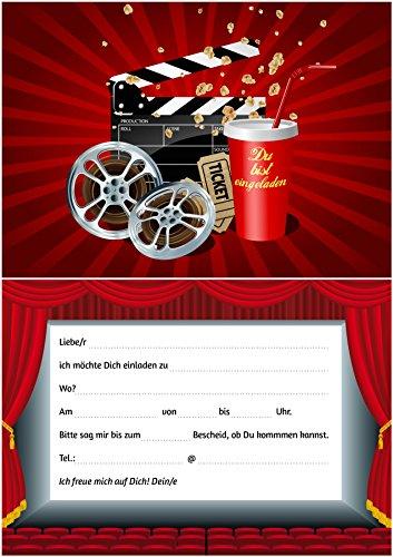 Toll 10 Kino Einladungen (Set 2): 10 Er Set Kino Einladungskarten Für Den  Nächsten Kindergeburtstag Im Kino Von EDITION COLIBRI © (10716): Amazon.de:  Bürobedarf ...