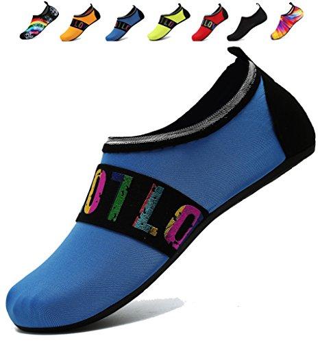 Adituo Chaussures De Sport Nautique Aqua Pieds Nus Chaussettes Piscine Plage Nager Exercice Pour Les Femmes Et Les Hommes Loveblue