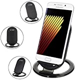 Tomcrazy 2 Coils Fast Wireless Charger QI-ENABLED SMARTPHONE Charging Stand Wireless Charger for Samsung Galaxy Note 8/Note 5 Galaxy S8+/S8 /S7, S7 Edge,Galaxy S6 S6 Edge,LG Google Nexus 4/5/6/LTE2/D1