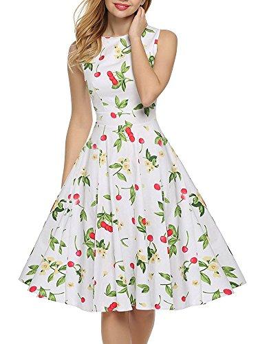 織るバクテリア魔術師OCHENTA レディース Aライン ノースリーブ リボンベルト付 花柄 結婚式 パーティー 大きいサイズ対応 ワンピース ドレス
