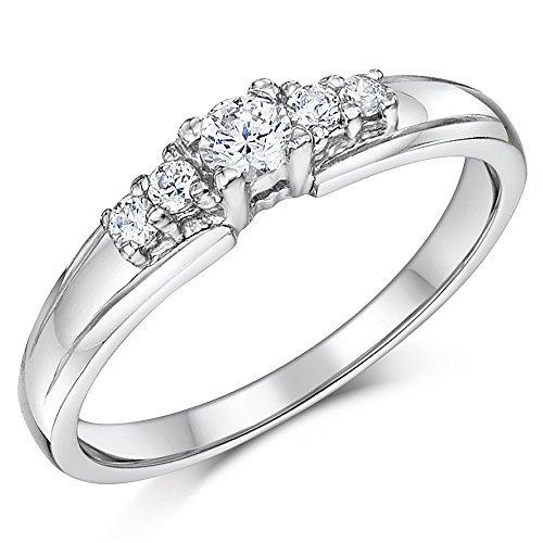 Anillo de compromiso de piedra de cobalto eima 5 del anillo de bodas de compromiso Solitario: Amazon.es: Joyería