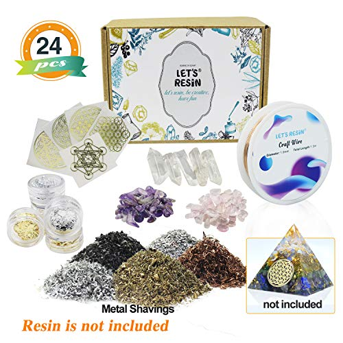 - Orgone Pyramid Making Supplies LET'S RESIN Orgone Orgonite Supplies with Metal Shavings, Quartz Crystals, Stones, Foil for Orgone Orgonite Pyramids, Orgonite Jewelry (Not Including Resin or Mold)