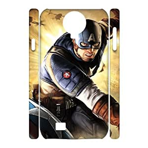 D-PAFD Cell phone case Captain America Hard 3D Case For Samsung Galaxy S4 i9500
