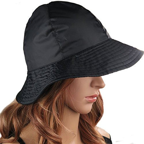 Rain Hat Sun Hat 2-in-1 Reversible Cloche Bucket Hat By DEBRA WEITZNER