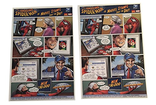 The Amazing Spider-Man In Marvel Stamps Save The Day USPS Promo Sheet Set of - Days Usps