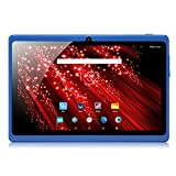 iRULU eXpro X1 7 Inch Google Android 4.4 Tablet, GMS Certified by Google, 1024x600 Resolution, Quad Core, 8GB Nand Flash -- Blue