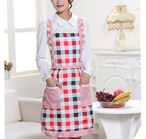 Keukenschort voor dames, Floral Princess schort Premium verdikking waterdicht voor thuis koken Restaurant chef…
