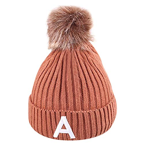 Angels Jersey Tote - Toddler Winter Stretch Cable Knit Beanie,Tronet GToddler Girls Baby Winter Letter Crochet Knit Hat Beanie Hairball Cap (Coffee)