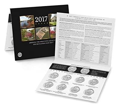 2017 P & D America the Beautiful Quarters Uncirculated Coin Set US Mint Packaged