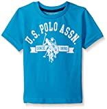 U.S. Polo Assn. Boys' Flocked Short Sleeve Graphic Logo T-Shirt