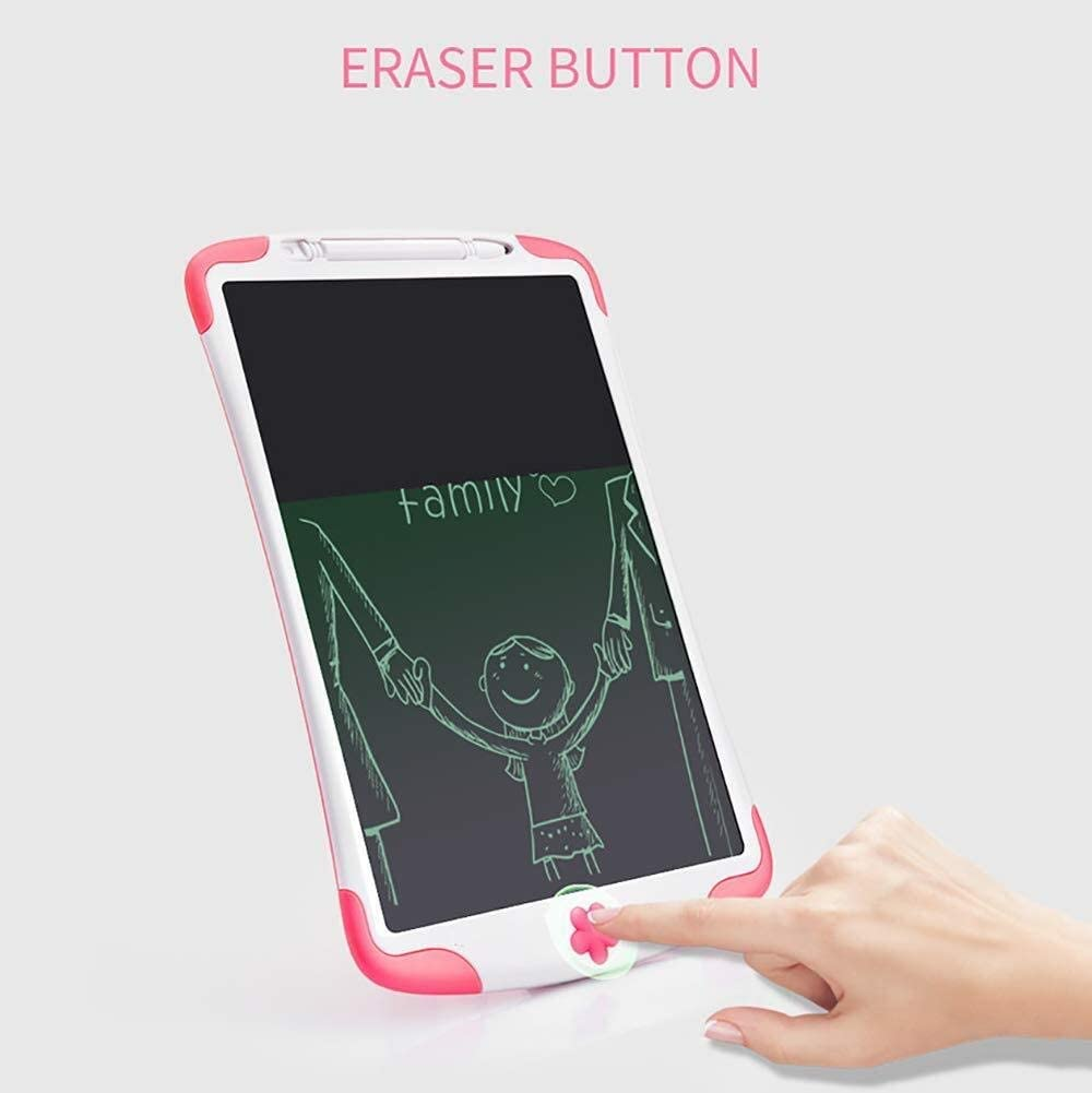 Children and Adults,10 Inch LCD Writing Board High-Brightness Message Board Office Families Color : Green Portable Graffiti Pad LCD Electronic Tablet Environmental