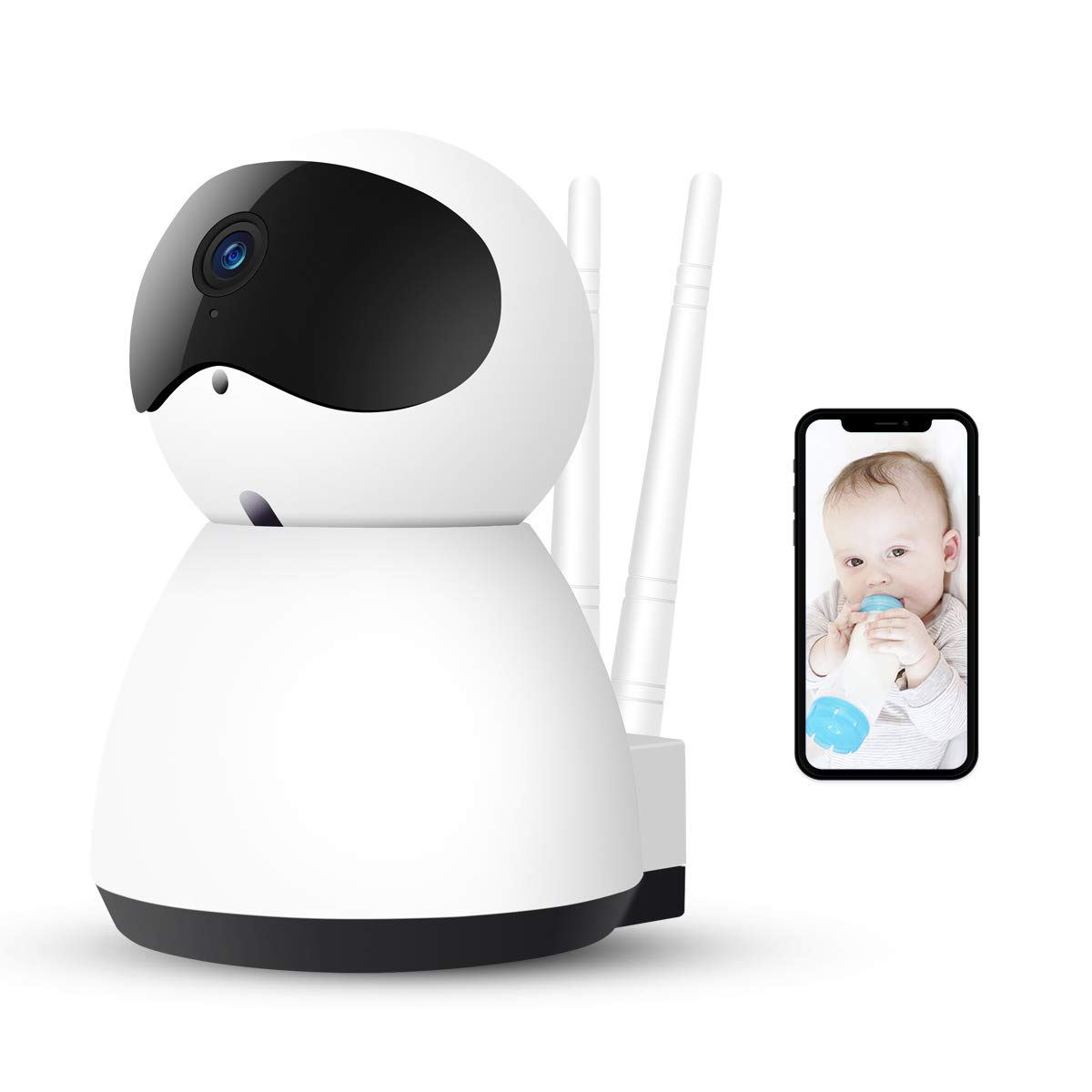 Motion Detection 1080P HD Security Home Wifi IP Camera with Two-Way Audio Night Vision Android and Windows Device Remote View Pan//Tilt//Zoom for IOS AOGE Baby Monitor with Camera