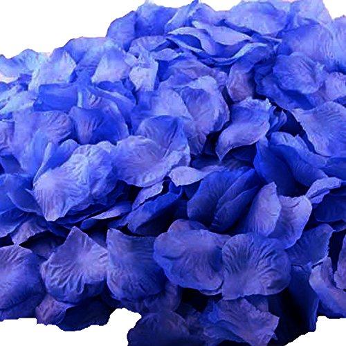 UGE 4000 PCS Artificial Silk Rose Petals Carpet Flowers Bulk for Wedding Favor Party Decoration (Royal Blue)