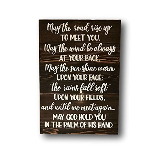 (Funlaugh Irish Blessing Pallet Sign Irish Quote Irish Wedding Gift Irish Sayings May The Road Rise Up to Meet You Housewarming Gift Wooden Plaque Sign Crafts for Living Room Decorative)