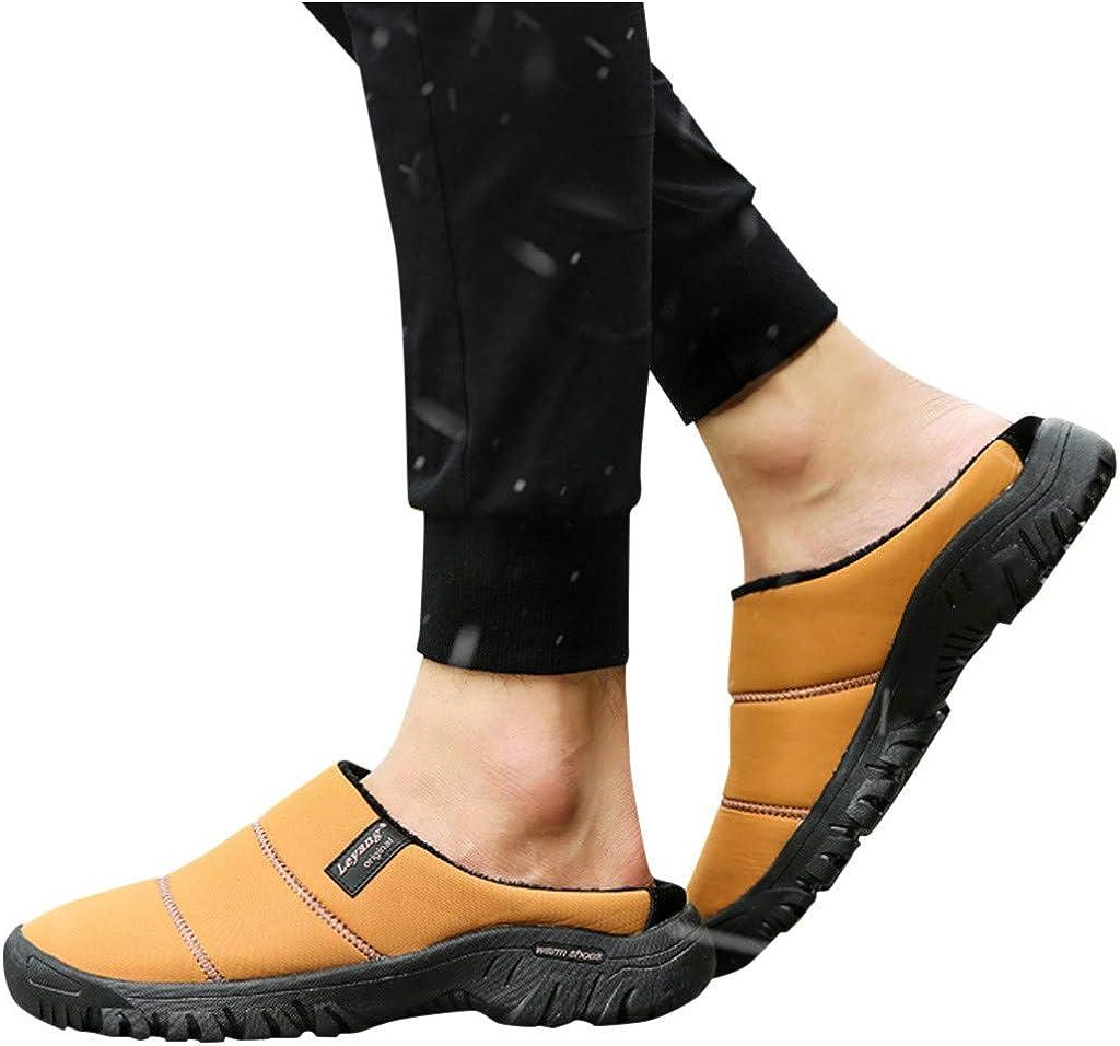 Kiyotoo Women Men Comfortable Anti-Slip Winter Snow Warm Slip On Indoor Outdoor Faux Fur Lined Clog House Slippers
