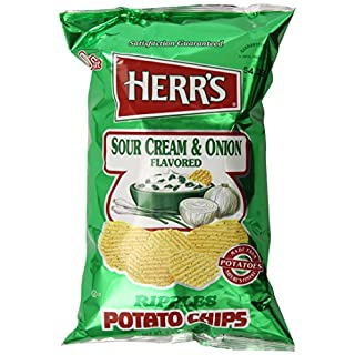 Herr's Sour Cream and Onion Potato Chips, 9.5 Ounce