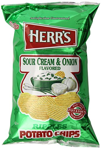 Herr's Sour Cream and Onion Potato Chips, 9.5 Ounce (Chips Sour Cream)
