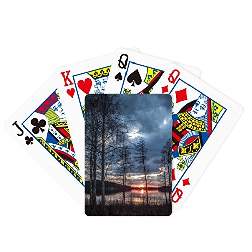 Lake Trees Science Nature Scenery Poker Playing Card Tabletop Board Game Gift by beatChong