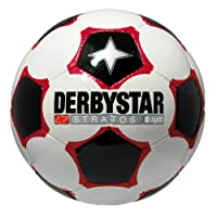 Derbystar Fußball Stratos Super Light Neu, Weiss/Schwarz/Rot, Gr. 5, 1269500123