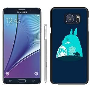 Hot Sale Note 5 Case,My Neighbor Totoro 1 Black Samsung Galaxy Note 5 Screen Phone Case Unique and Art Design