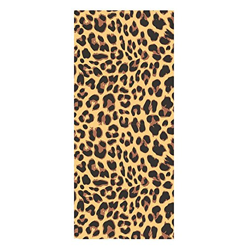 QH Beach Towels Bath Towels Leopard Print Pattern Cotton Microfiber Polyester Absorbent Washcloth Towels 28 x 55 Inch